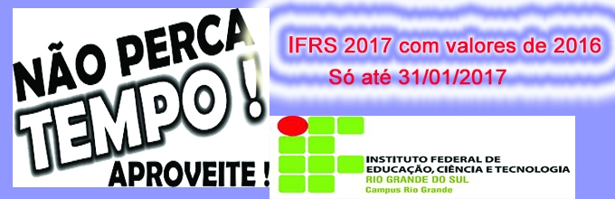 IFRS 2017 Promoção